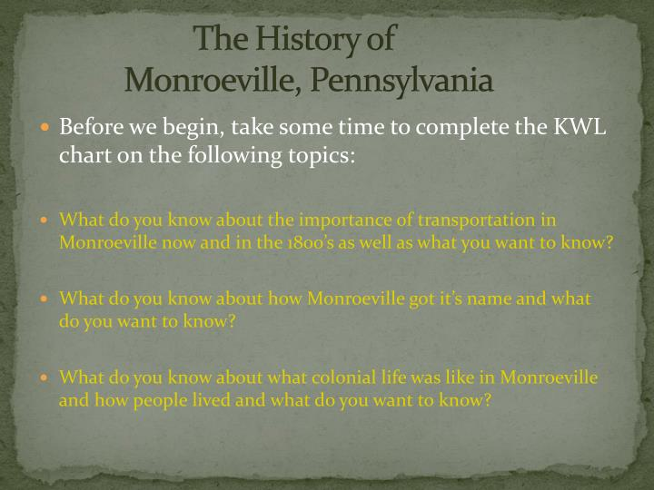 the history of monroeville pennsylvania n.