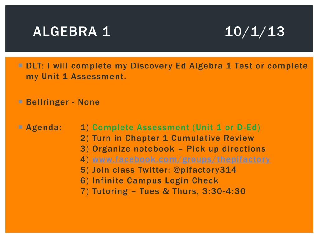 PPT - Pre-AP Algebra 1 PowerPoint Presentation - ID:2235859