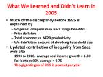 what we learned and didn t learn in 2005