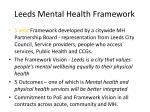 leeds mental health framework