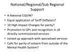national regional sub regional support