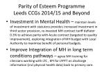 parity of esteem programme leeds ccgs 2014 15 and beyond1