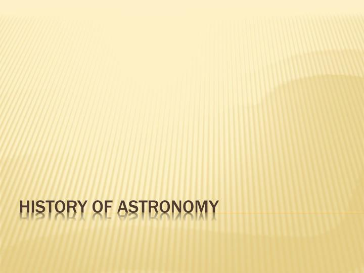 history of astronomy n.