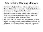 externalizing working memory