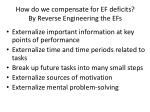 how do we compensate for ef deficits by reverse engineering the efs