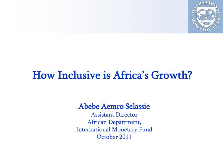 how inclusive is africa s growth n.