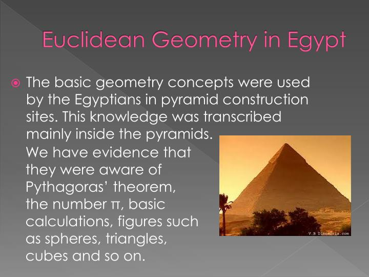 Euclid e an geometry in egypt
