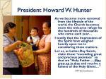 president howard w hunter