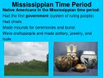 mississippian time period