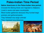 paleo indian time period