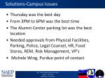 solutions campus issues
