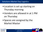 solutions market day logistics