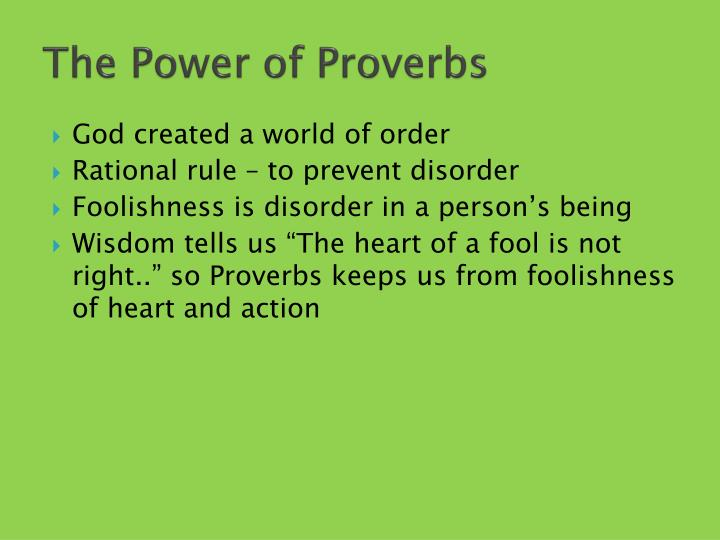 the power of proverbs n.