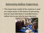 astronomy before copernicus