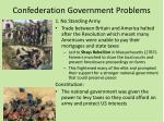 confederation government problems