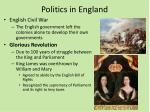 politics in england