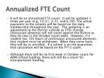 annualized fte count