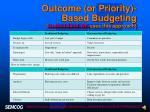 outcome or priority based budgeting grand island ne uses this approach