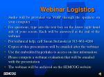 webinar logistics