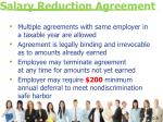 salary reduction agreement