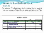 accrued assets revenues example