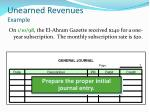 unearned revenues example