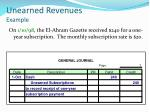 unearned revenues example1