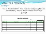 unearned revenues example2