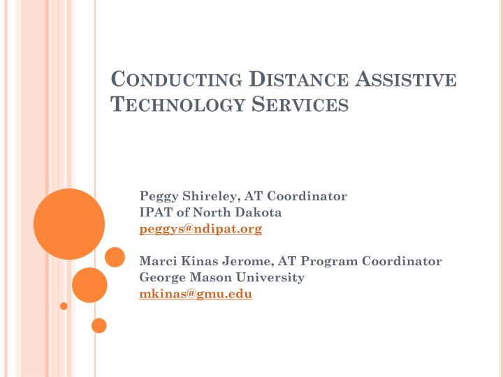 conducting distance assistive technology services n.