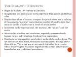 the romantic elements