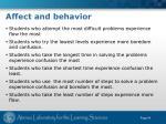 affect and behavior