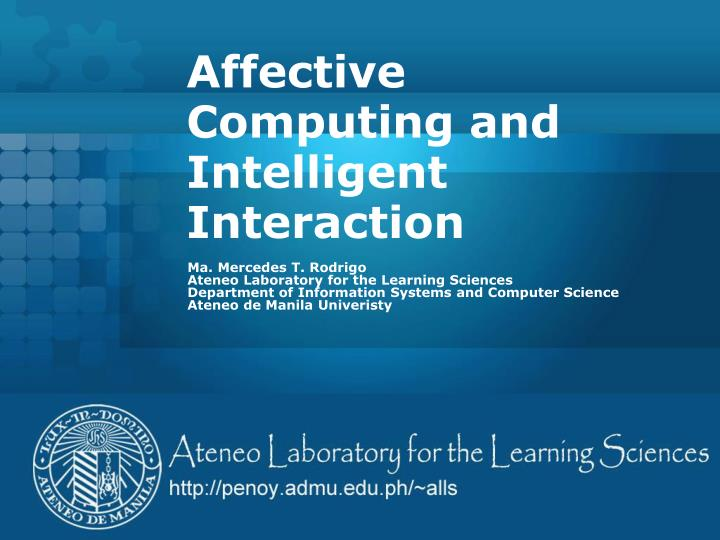 affective computing and intelligent interaction n.