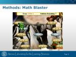 methods math blaster