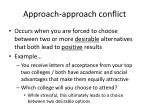 approach approach conflict