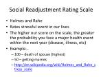 social readjustment rating scale