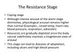 the resistance stage