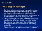 next steps challenges