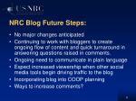 nrc blog future steps