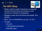 the nrc blog