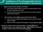 confluence of two demographic factors drove increase in workforce attainment
