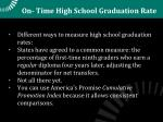 on time high school graduation rate