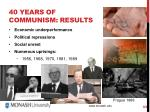 40 years of communism results