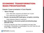 economic transformation mass privatization