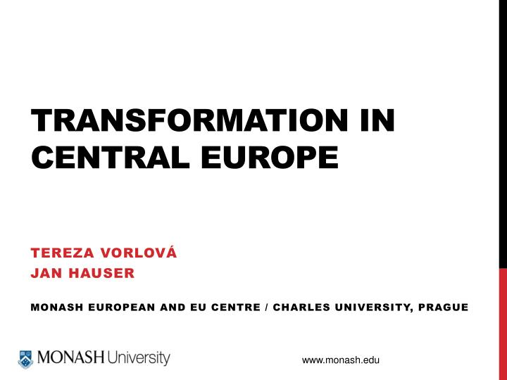 transformation in central europe n.
