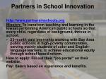partners in school innovation