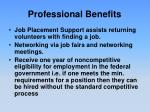 professional benefits