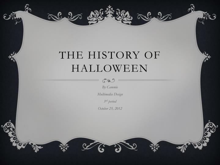 the history of halloween n.