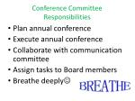 conference committee responsibilities
