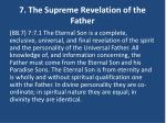 7 the supreme revelation of the father