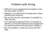 problem with timing